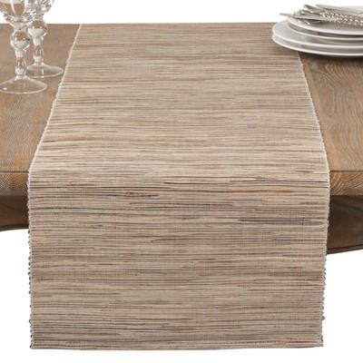 Medium Beige Stripe Table Runner - Saro Lifestyle