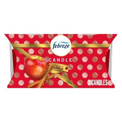 Febreze Candle Fresh Air Freshener - Spiced Apple - 2ct