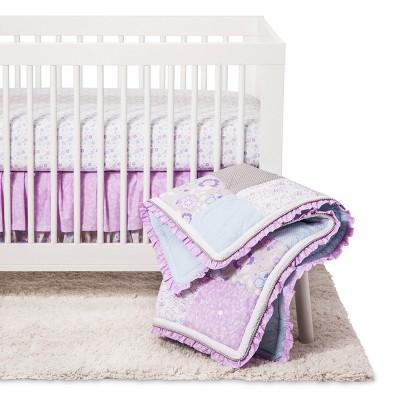 Trend Lab Crib Bedding Set - Grace - Lavender