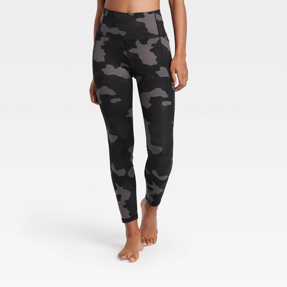 Women 39 S Contour Camo Print High Waisted Leggings 26 34 All In Motion 8482 Dark Gray Xl