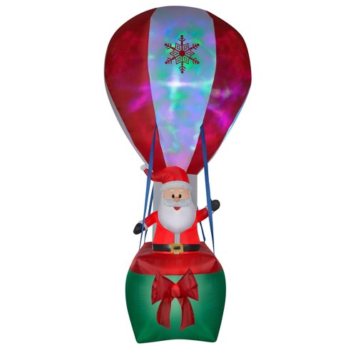 12ft Inflatable Projection Hot Air Balloon Santa - National Tree Company - image 1 of 1
