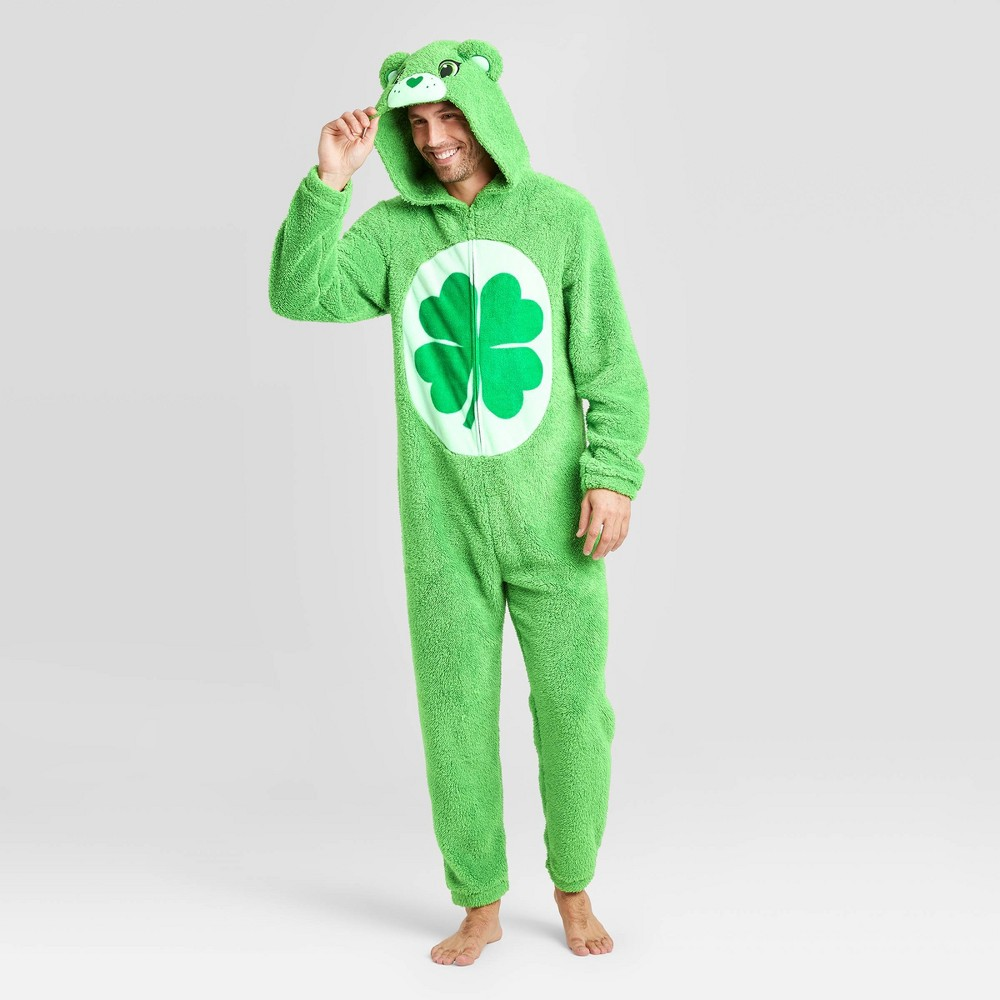 Image of Men's Care Bears Plush Union Suit - Green L, Men's, Size: Large