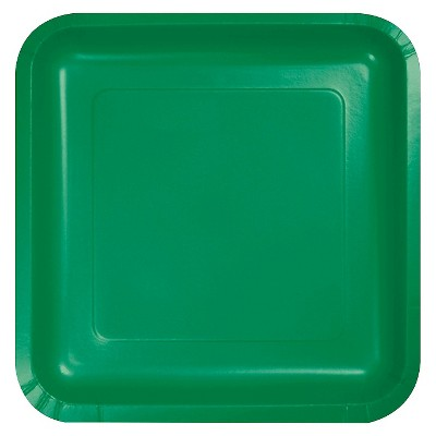 "Emerald Green 7"" Dessert Plates - 18ct"