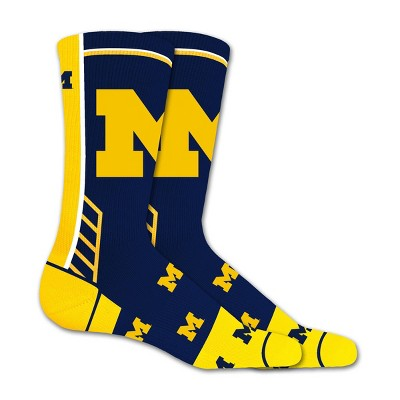 NCAA Michigan Wolverines Tailgate Crew Socks 10-13
