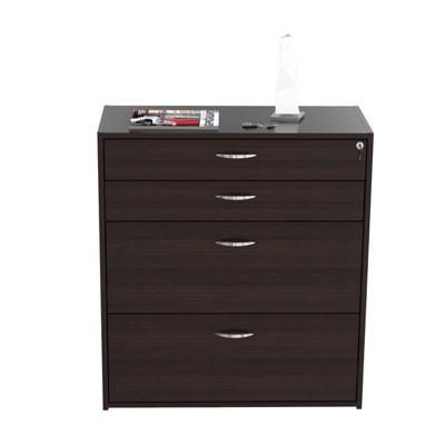4 Drawer Locking File Cabinet Espresso - Inval