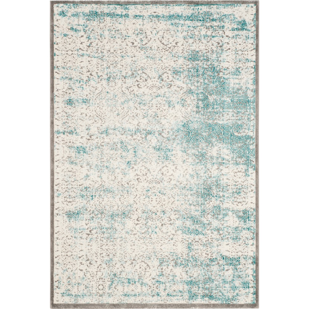 3X5 Medallion Loomed Accent Rug Turquoise/Ivory - Safavieh Buy