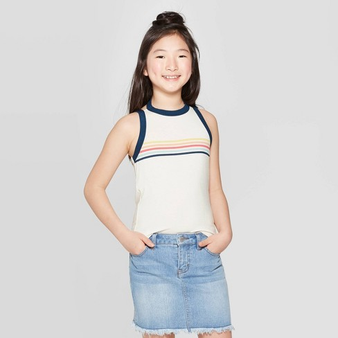 59480acda9e Girls' High Neck Tank Top - art class™ White