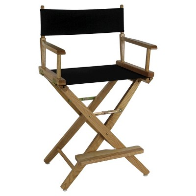 Extra Wide Directors Chair - Natural Frame/Black