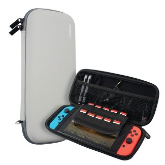 Insten For Nintendo Switch Carry Case - Protective Hard Shell, Portable Travel Zipper Pouch - Gray : Target