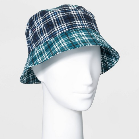 Women's Plaid Bucket Hat - Wild Fable™ Teal - image 1 of 2