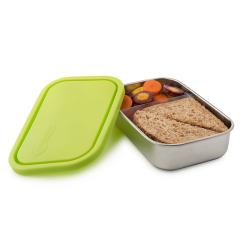 U Konserve Divided Rectangle Stainless Steel Container 25oz - LimePlasticLid - image 1 of 4