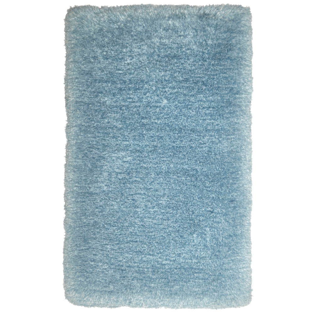 Image of Nicole Miller Casey Silla 2'x3' Kids Shag Accent Rug Blue - Home Dynamix