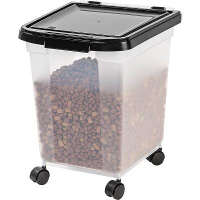IRIS Airtight Pet Food Container - Black - 25lb