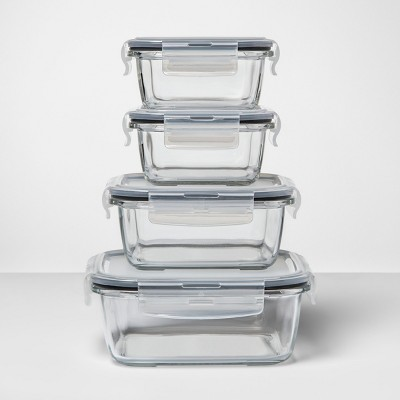 8pc Square Glass Food Storage Container Set - Made By Design™