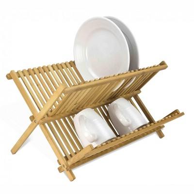 Home Basics Bamboo Foldable Dish Drainer