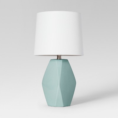 Modern Ceramic Facet Accent Table Lamp Mint - Project 62™