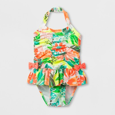 Toddler Girls' Floral Skirt One Piece Swimsuit - Cat & Jack™ 4T