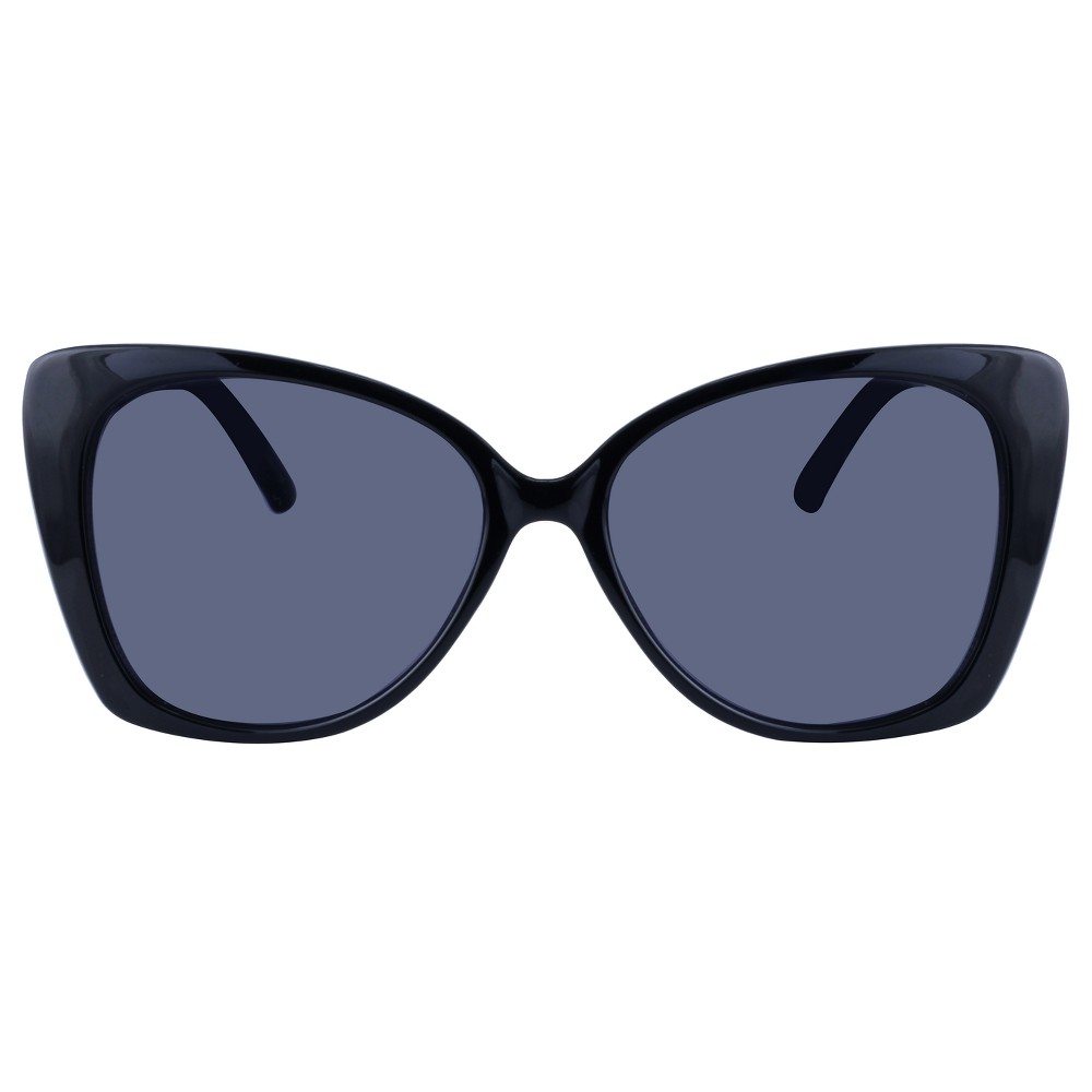 Women's Cateye Sunglasses - A New Day Black These Black sunglasses are perfect to wear everyday. Slip on these classic sunglasses for sophisticated style made easy. These sunglasses are 100 percent Uva and Uvb protection. Gender: Female. Age Group: Adult. Pattern: Solid.