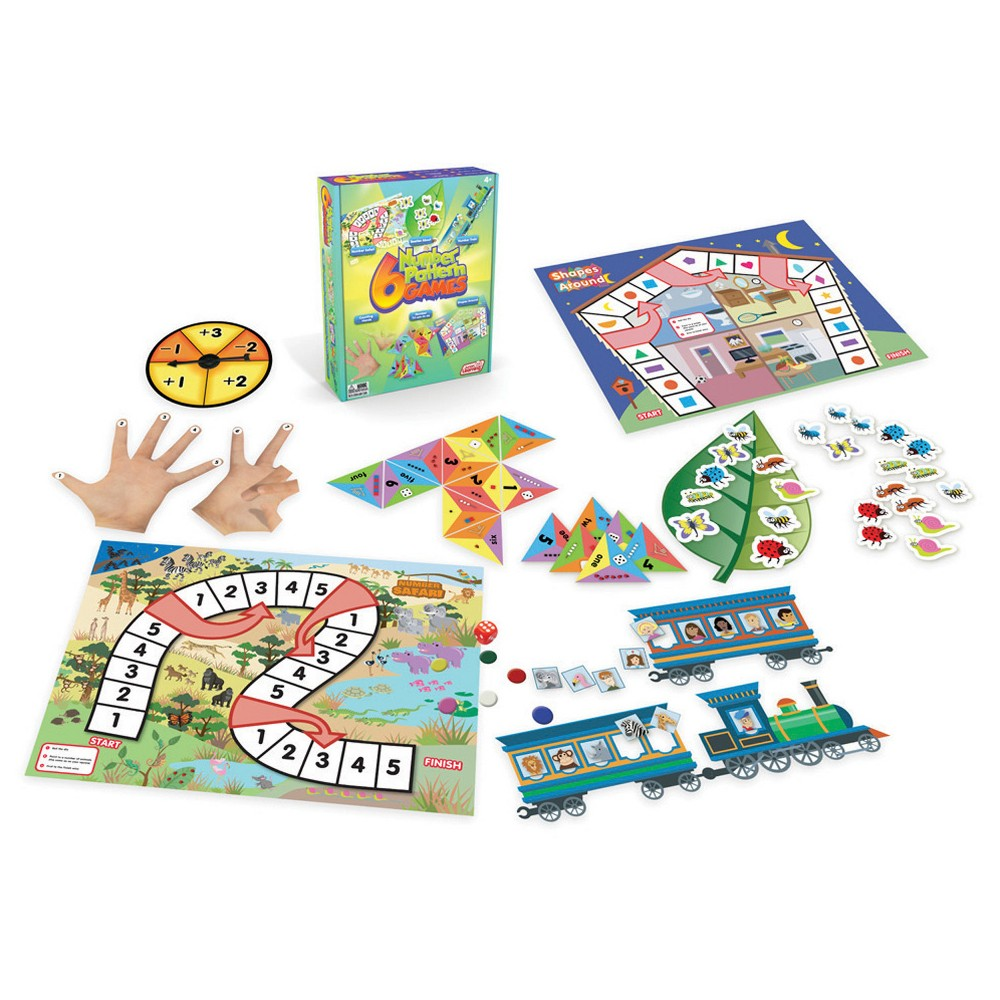 Junior Learning Number Pattern Games 6ct