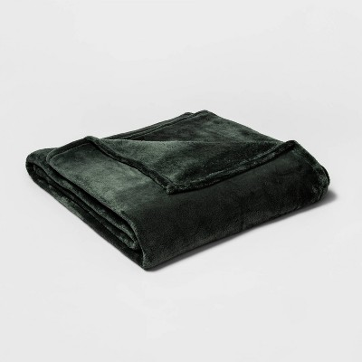 Full/Queen Microplush Bed Blanket Pine - Threshold™