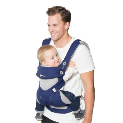 Ergobaby 360 All Carry Positions Ergonomic Cool Air Mesh Baby Carrier - French Blue