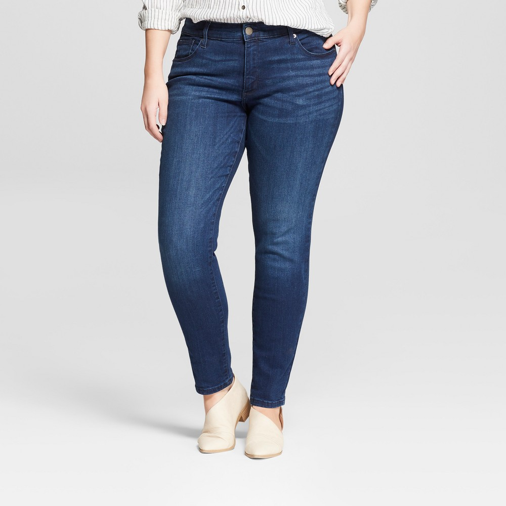 Women's Plus Size Skinny Jeans - Universal Thread Medium Wash 24W, Blue