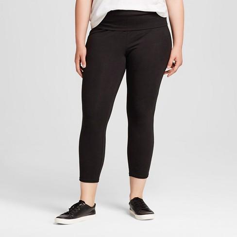 2aa6e1e235f18 Women's Plus Size High Waist Leggings Black 3X - Mossimo Supply Co ...