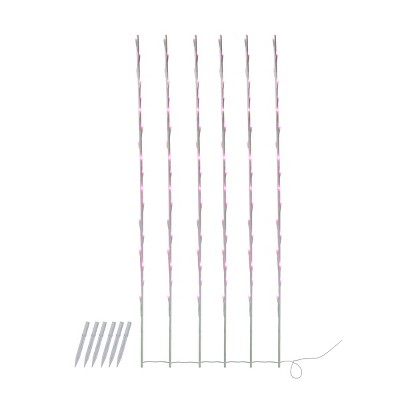 Northlight 108 Pink Pre-Lit LED Branch Patio Outdoor Garden Novelty Christmas Light Stakes - 8.5 ft White Wire