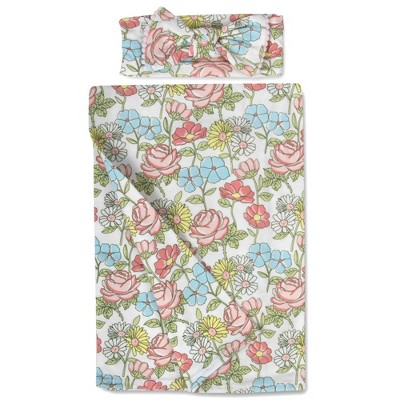 Baby Essentials Wild Floral Swaddle Blanket and Headband Set