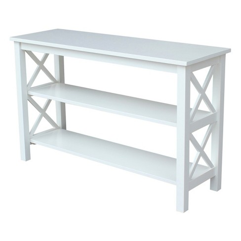 Hampton Console Table - White - International Concepts - image 1 of 4