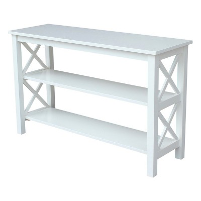 Hampton Console Table   White   International Concepts