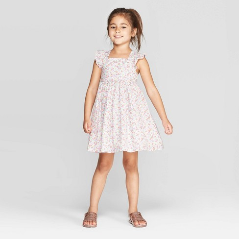 cebd91a318ebaf OshKosh B'gosh Toddler Girls' Flutter Sleeve Floral Dress - Pink : Target