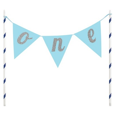 1st Birthday Boy Cake Banner