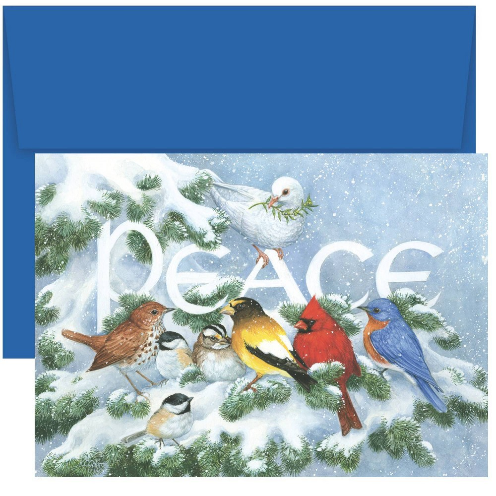 Image of 18ct Birds on Branch Greeting Cards - Masterpiece Studio