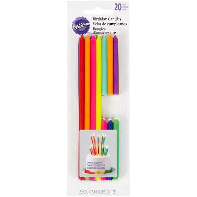 Wilton Rainbow Tall Short Birthday Candles - 20ct