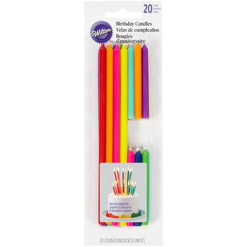 Wilton Rainbow Tall Short Birthday Candles - 20ct - image 1 of 4