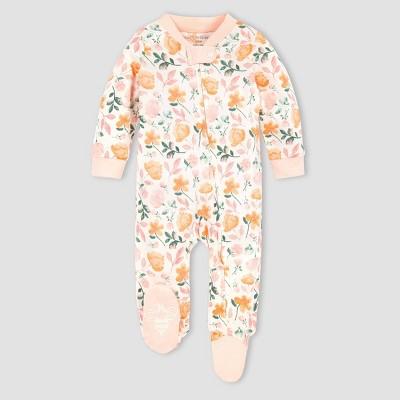 Burt's Bees Baby® Baby Girls' Organic Cotton Montana Meadow Sleep N' Play - Pink 0-3M