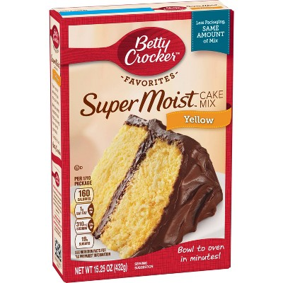 Baking Mixes: Betty Crocker Super Moist Favorites Yellow Cake Mix