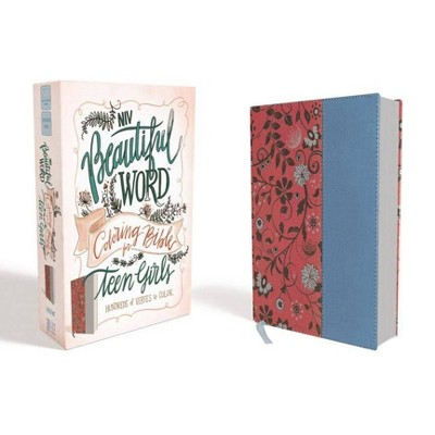 NIV, Beautiful Word Coloring Bible for Teen Girls, Imitation Leather, Pink/Blue - by  Zondervan (Leather Bound)