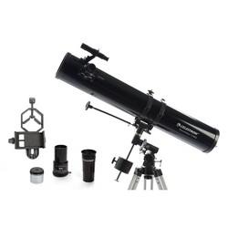 Celestron PowerSeeker 114EQ Telescope with Basic Smartphone Adapter - Black