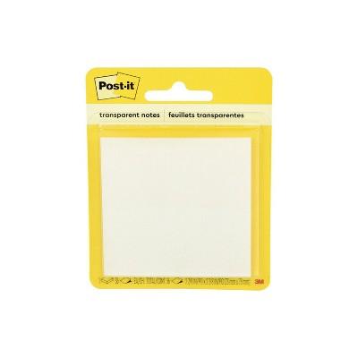 "Post-it 36ct Transparent Notes 2.8""x2.8"""