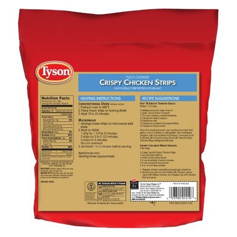 Tyson All Natural Crispy Chicken Strips 25oz Target