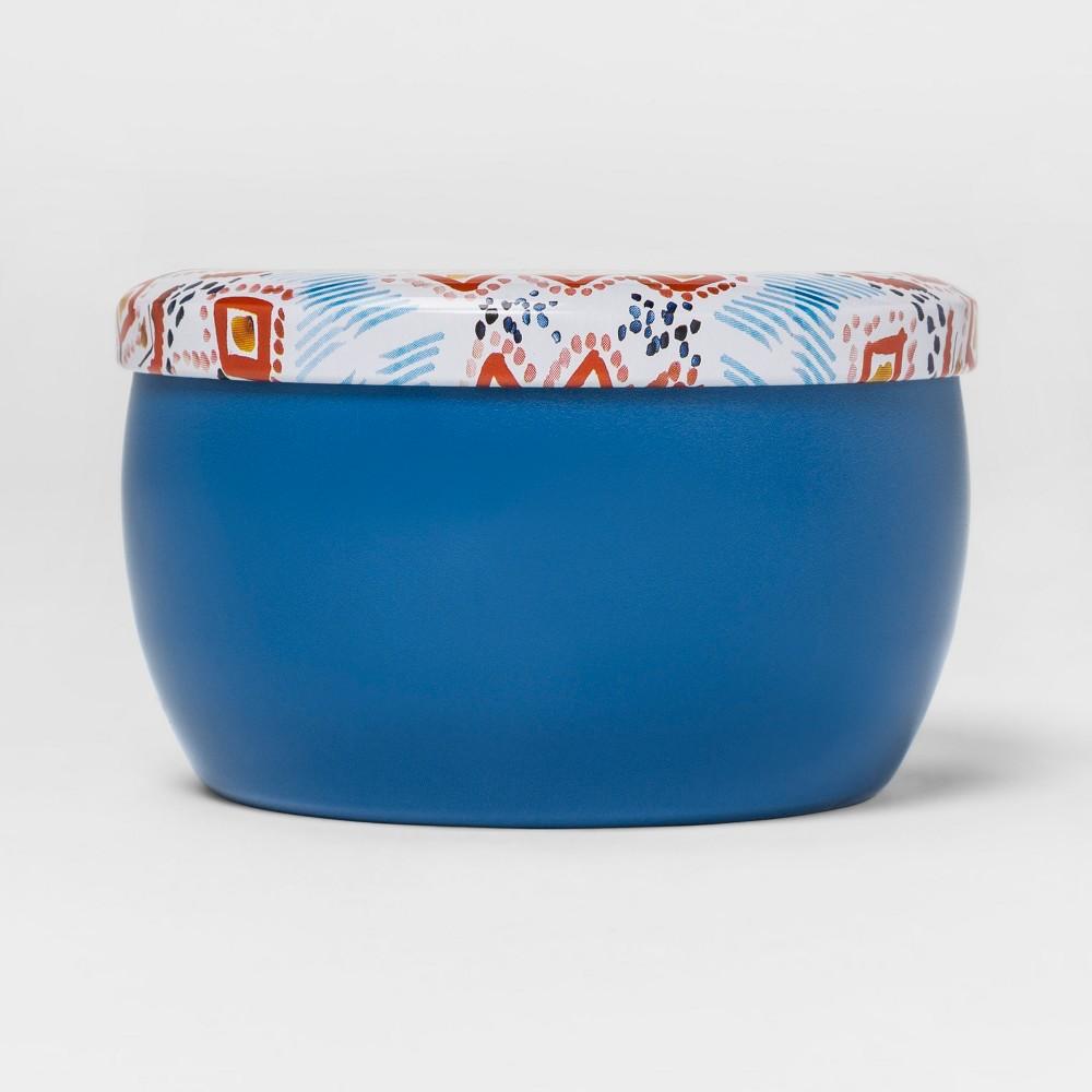 Printed Tin Candle 4oz - Elderflower Bloom, Blue