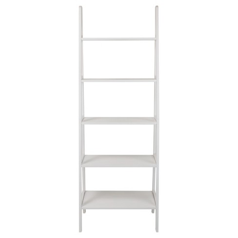 "72"" Shelf Ladder Bookcase - White - Flora Home - image 1 of 5"