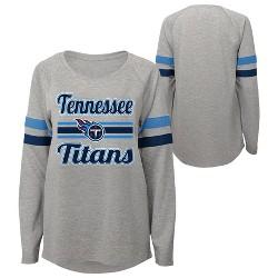 NFL Tennessee Titans Juniors' Gray Crewneck Fleece Sweatshirt