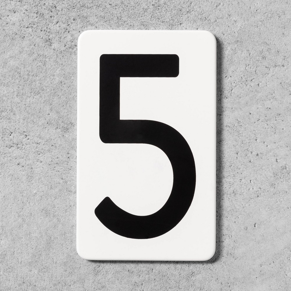 5 House Number Plate - Hearth & Hand with Magnolia, White