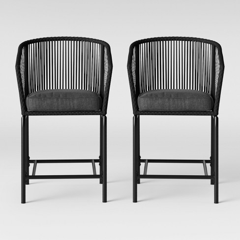 Patio Furniture Iron Black.Standish 2pk Bar Height Patio Chair Charcoal Project 62