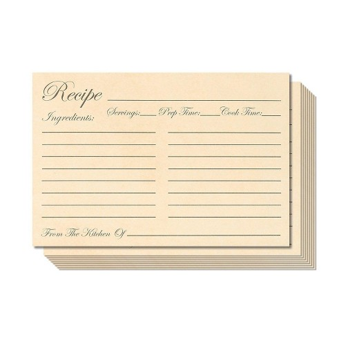 Juvale 60-Pack Kitchen Recipe Cards 4x6 inches Double Sided Modern Style Heavyweight - image 1 of 3