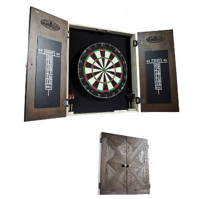 Barrington Bellevue Collection Premium Bristle Dartboard and Cabinet Set