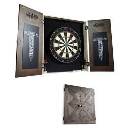 Barrington Bellevue Collection Premium Bristle Dartboard and Cabinet Set